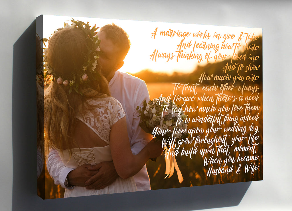 Custom Wedding Photo Canvas