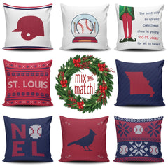 St. Louis Christmas Mix & Match Pillow Covers - societyofprints - Society of Prints - Throw Pillow