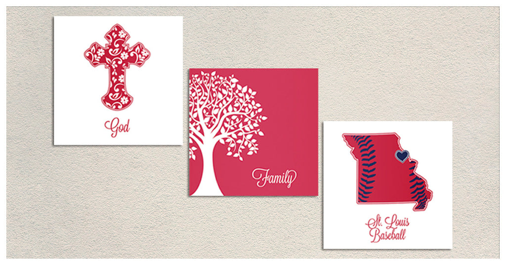God Family Cardinals Premium Canvas - societyofprints - Society of Prints -