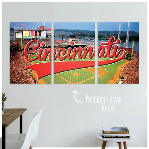 Cincinnati Premium Canvas Wraps - societyofprints - Society of Prints - Canvas Wrap