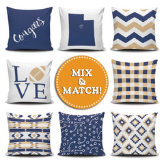 Utah Mix & Match Pillow Covers - societyofprints - Society of Prints - Throw Pillow