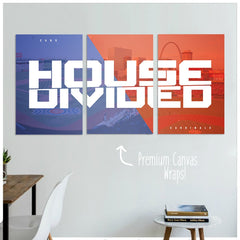 Cardinals / Cubs House Divided Premium Canvas Wraps - societyofprints - Society of Prints - Canvas Wrap