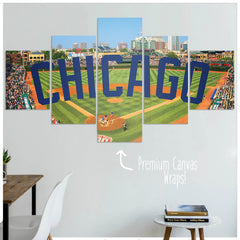 Chicago  - 5 Panel Premium Canvas Wraps - societyofprints - Society of Prints - Canvas