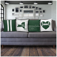 New York Stencil Pillow Covers