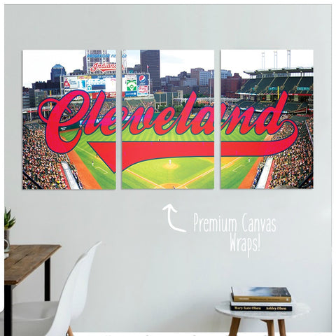 Cleveland Premium Canvas Wraps - societyofprints - Society of Prints - Canvas Wrap