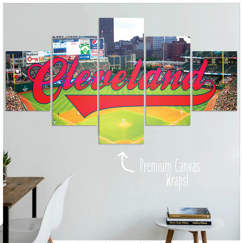 Cleveland  - 5 Panel Premium Canvas Wraps - societyofprints - Society of Prints - Canvas