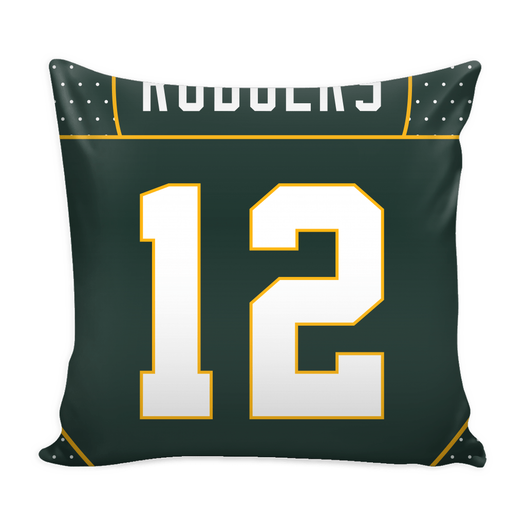 Rodgers Jersey Pillow Cover - societyofprints - Society of Prints - Pillows