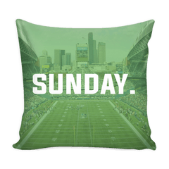 Seattle Sunday Football Pillow Cover - societyofprints - Society of Prints - Pillows