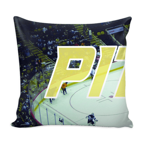 Pittsburgh Hockey Panoramic Stadium Pillow Covers - societyofprints - Society of Prints - Pillows