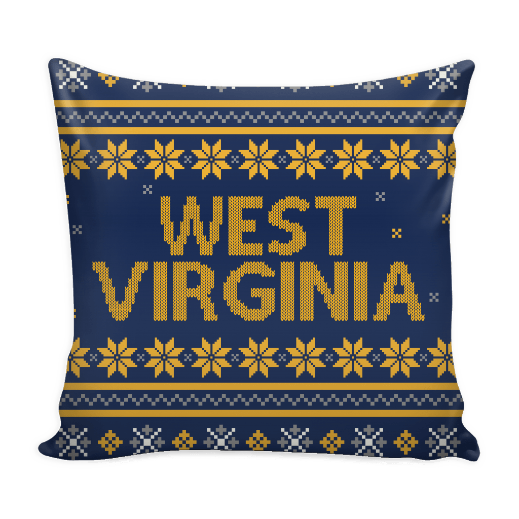 West Virginia Christmas Mix & Match Pillow Covers - societyofprints - Society of Prints - Pillows