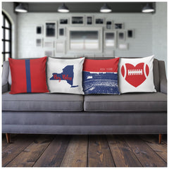 New York Stencil Pillow Covers - societyofprints - Society of Prints - Pillows