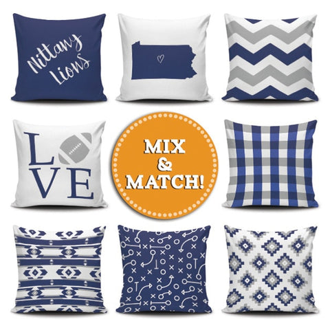 Pennsylvania Mix & Match Pillow Covers - societyofprints - Society of Prints - Throw Pillow