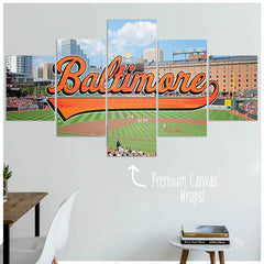 Baltimore  - 5 Panel Premium Canvas Wraps - societyofprints - Society of Prints - Canvas