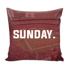 San Fransisco Sunday Football Pillow Cover - societyofprints - Society of Prints - Pillows