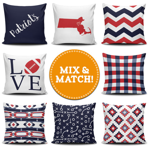 New England Mix & Match Pillow Covers - societyofprints - Society of Prints - Throw Pillow