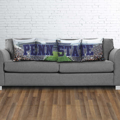 Penn State Panoramic Stadium Pillow Cover Set - societyofprints - Society of Prints -