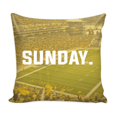 Pittsburgh Sunday Football Pillow Cover - societyofprints - Society of Prints - Pillows