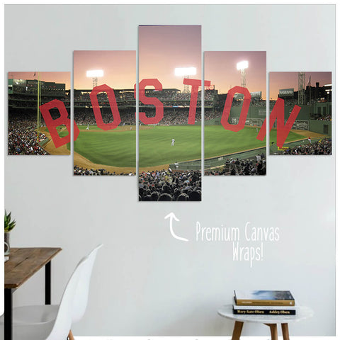 Boston  - 5 Panel Premium Canvas Wraps - societyofprints - Society of Prints - Canvas