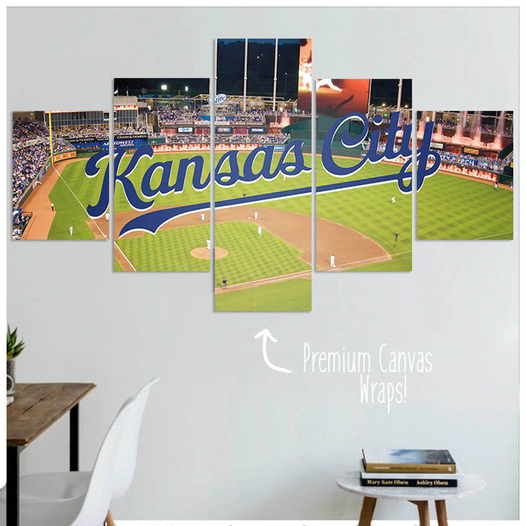 Kansas City  - 5 Panel Premium Canvas Wraps - societyofprints - Society of Prints - Canvas