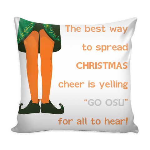 Oklahoma State Christmas Mix & Match Pillow Covers - societyofprints - Society of Prints - Throw Pillow