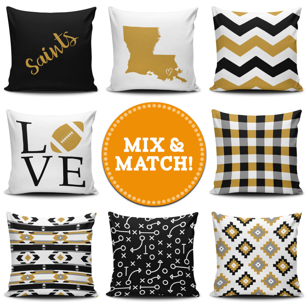 New Orleans Mix & Match Pillow Covers - societyofprints - Society of Prints - Throw Pillow