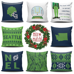 Seattle Christmas Mix & Match Pillow Covers - societyofprints - Society of Prints - Throw Pillow