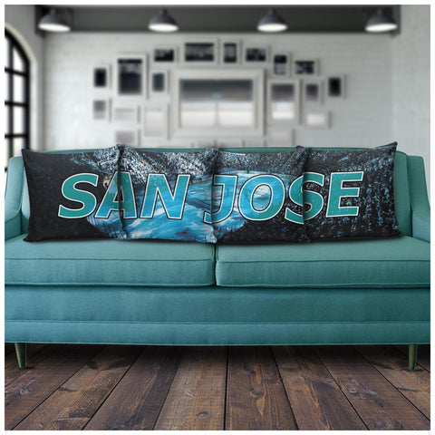 San Jose Panoramic Stadium Pillow Covers - societyofprints - Society of Prints - Pillows