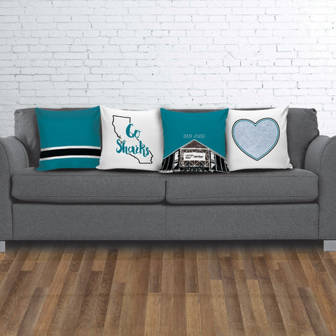 San Jose Stencil Throw Pillow Covers - societyofprints - Society of Prints - Pillows