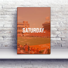 Stillwater Saturday Football Premium Canvas Wraps - societyofprints - Society of Prints - Canvas Wrap