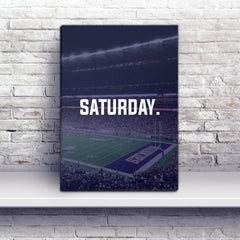 Seattle Saturday Football Premium Canvas Wraps - societyofprints - Society of Prints - Canvas Wrap