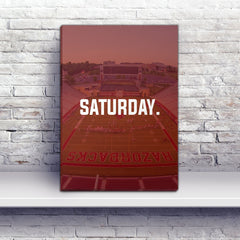 Fayetteville Saturday Football Premium Canvas Wraps - societyofprints - Society of Prints - Canvas Wrap