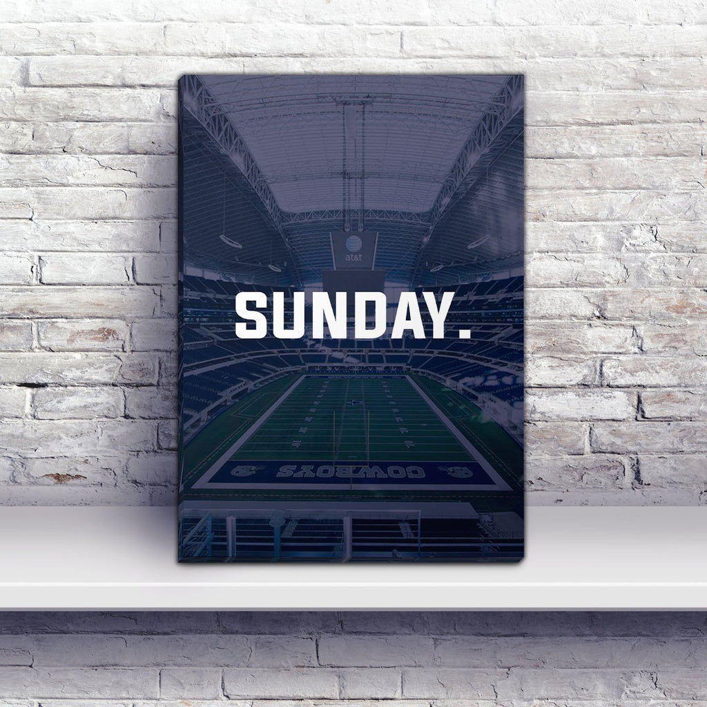Dallas Sunday Football Premium Canvas Wraps - societyofprints - Society of Prints - Canvas Wrap