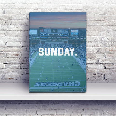 San Diego Sunday Football Premium Canvas Wraps - societyofprints - Society of Prints - Canvas Wrap