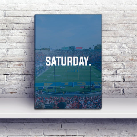 Los Angeles Saturday Football Premium Canvas Wraps - societyofprints - Society of Prints - Canvas Wrap