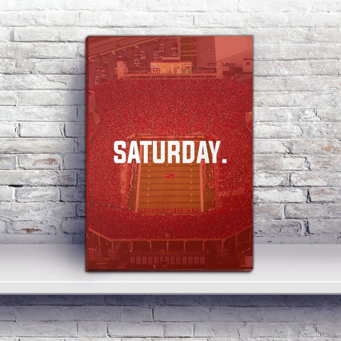 Lincoln Saturday Football Premium Canvas Wraps - societyofprints - Society of Prints - Canvas Wrap