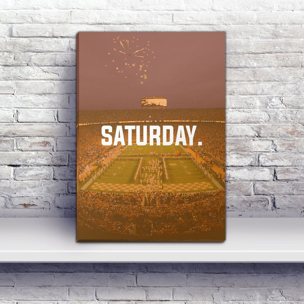Knoxville Saturday Football Premium Canvas Wraps - societyofprints - Society of Prints - Canvas Wrap