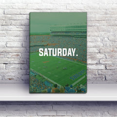 Gainesville Saturday Football Premium Canvas Wraps - societyofprints - Society of Prints - Canvas Wrap