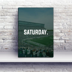 East Lansing Saturday Football Premium Canvas Wraps - societyofprints - Society of Prints - Canvas Wrap