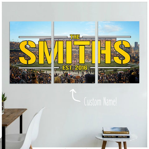 steeler gifts, personalized steelers gifts, home decor