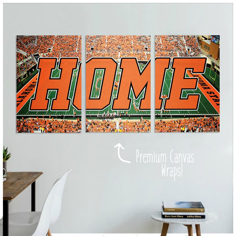 Oklahoma State Premium Canvas Wrap Set - societyofprints - Society of Prints - Canvas Wrap