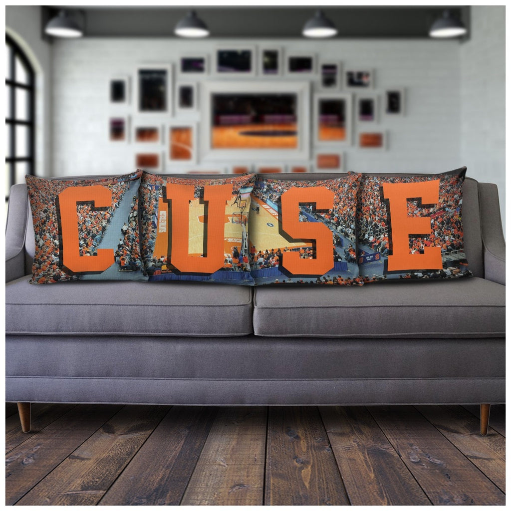 Syracuse Panoramic Stadium Pillow Covers - societyofprints - Society of Prints - Pillows