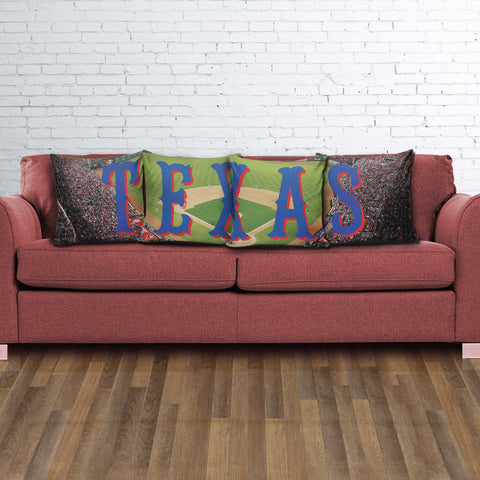 Texas Color Panoramic Stadium Pillow Cover Set - societyofprints - Society of Prints -