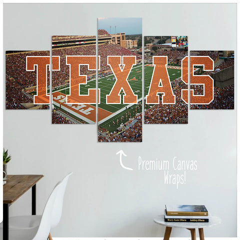 Texas - 5 Panel Premium Canvas Wraps