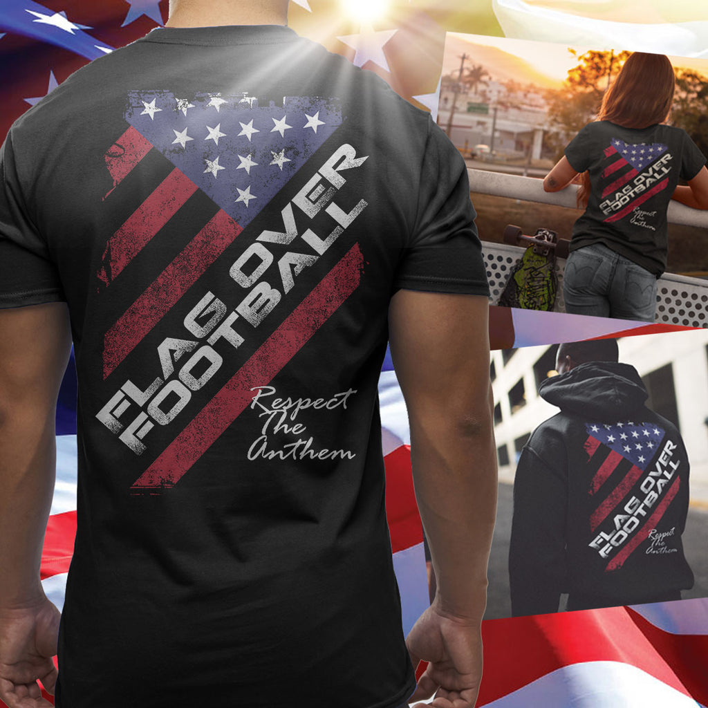 Flag Over Football - Respect The Anthem - societyofprints - Society of Prints - shirts