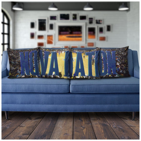 Villanova Panoramic Stadium Pillow Covers - societyofprints - Society of Prints - Pillows