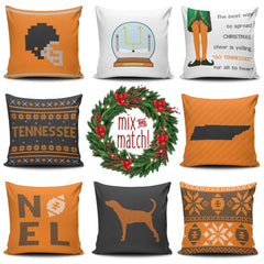 Tennessee Christmas Mix & Match Pillow Covers - societyofprints - Society of Prints - Throw Pillow