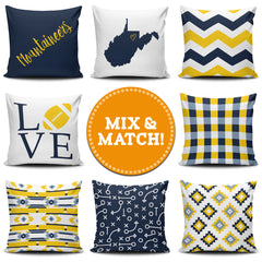 West Virginia Mix & Match Pillow Covers - societyofprints - Society of Prints - Throw Pillow