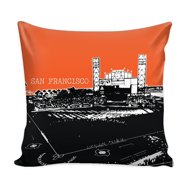 San Francisco Stencil Pillow Covers - societyofprints - Society of Prints - Pillows