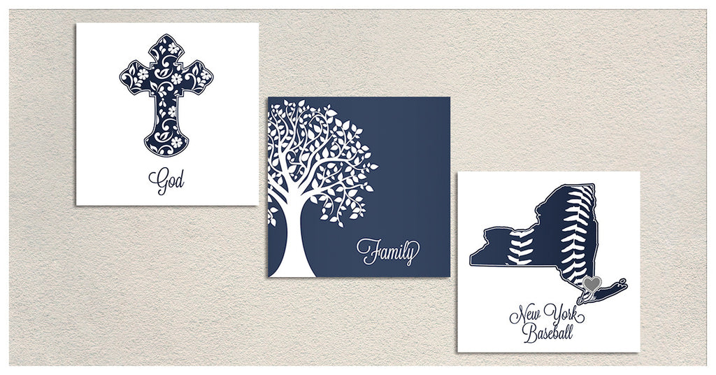 God Family Yanks Premium Canvas - societyofprints - Society of Prints -