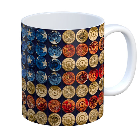 American Bullet Flag Coffee Mug - societyofprints - Society of Prints - Mug